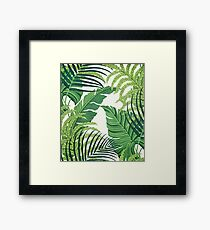 Green tropical leaves Framed Print
