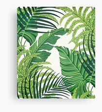 Green tropical leaves Canvas Print