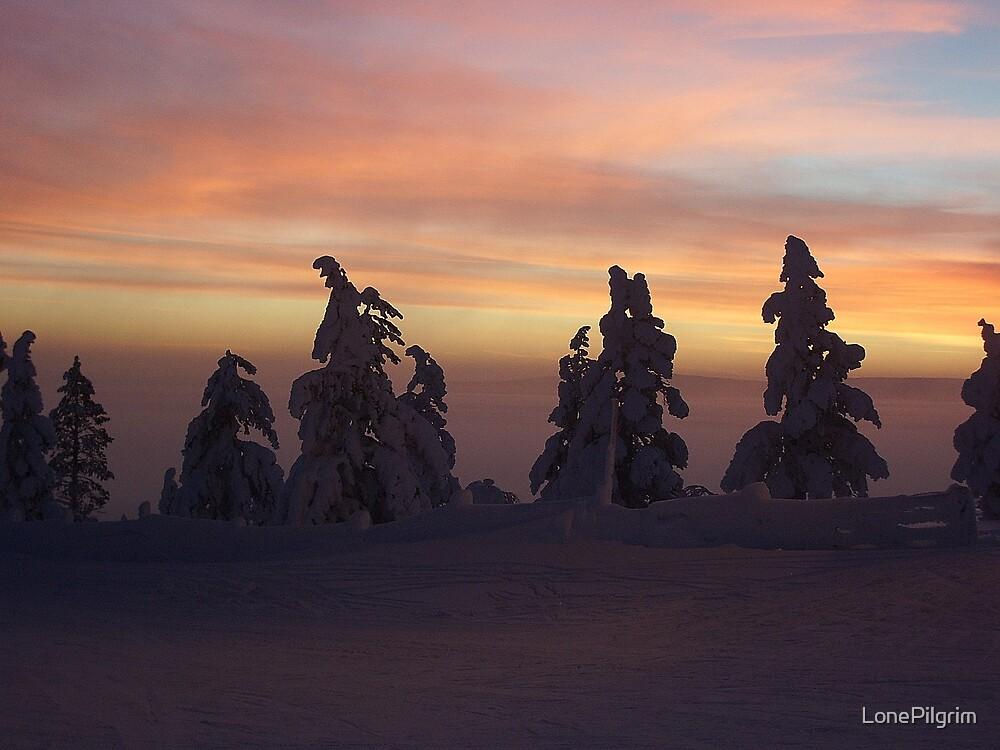 Sunset Over Levi by LonePilgrim