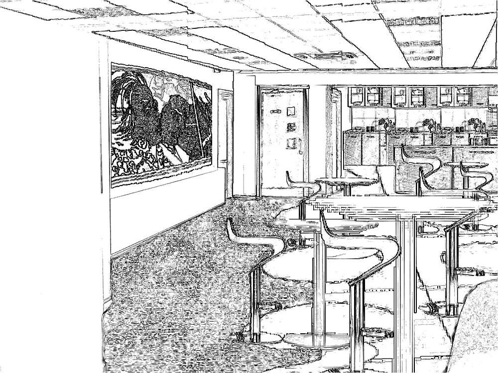 Cafe design by Sparkymarky