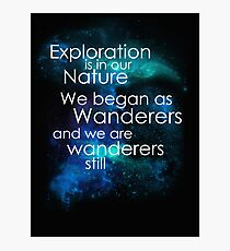 exploration Photographic Print