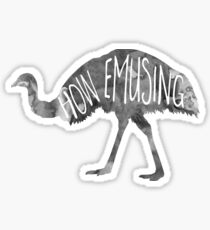 How EMUsing - Pun Sticker