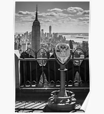 Empire State Building from Rockefeller Center Poster