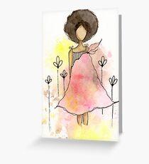 Splotch Girl - Freedom Greeting Card
