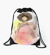 Splotch Girl - Freedom Drawstring Bag