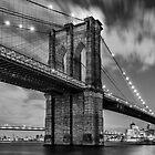 Long Exposure of Brooklyn Bridge by Randy  LeMoine