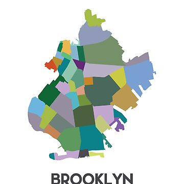Brooklyn Neighborhood Map by joshbergman