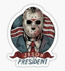 Jason For President Sticker