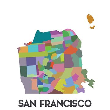San Francisco Neighborhood Map by joshbergman