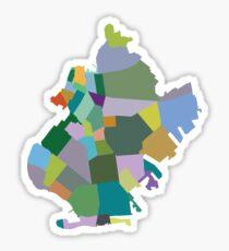 Brooklyn Neighborhood Map Sticker