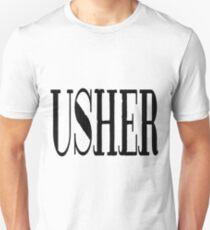 Usher - black Unisex T-Shirt