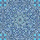Lotus Blue Baltic Pattern by Delights