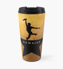Newsies Hamilton Mashup Travel Mug