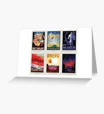 NASA JPL Space Tourism collage: Exoplanet Travel Bureau Greeting Card