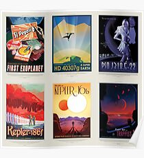 NASA JPL Space Tourism collage: Exoplanet Travel Bureau Poster