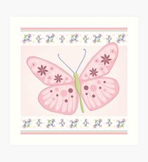 Flower Butterfly Art Print
