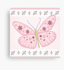 Flower Butterfly Canvas Print