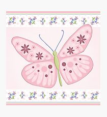 Flower Butterfly Photographic Print
