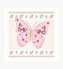 Heart Butterfly Art Print