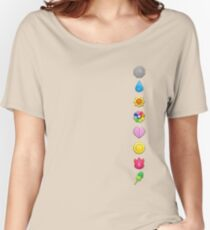 Pokemon Original Badges Women's Relaxed Fit T-Shirt