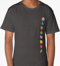 Pokemon Original Badges Long T-Shirt