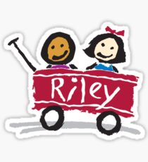 riley wagon Sticker