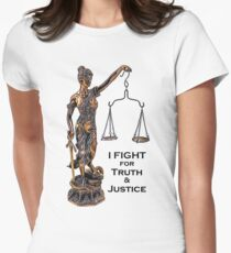 I Fight for Truth & Justice (Copper, Lawyer) Womens Fitted T-Shirt