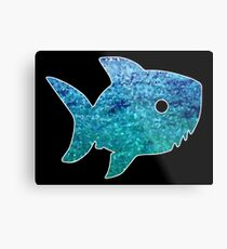Big Little Shark Metal Print