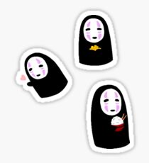 No Face Stickers! - Spirited Away Sticker
