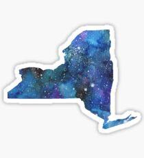 new york watercolor galaxy Sticker