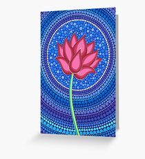 Splendid Lotus Flower Greeting Card
