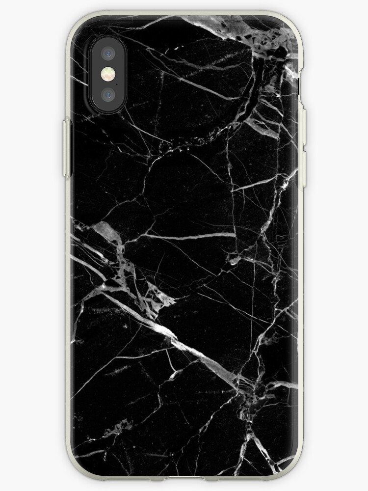 Quot Black Marble Quot Iphone Cases Amp Covers By Cy Ber Redbubble