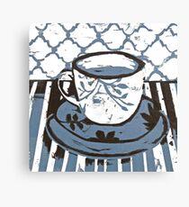 Tea Cup Blue Canvas Print
