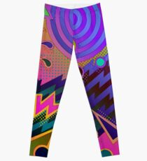 Retro Mania 80's Abstract Leggings