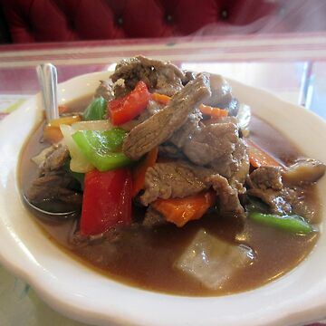 Steaming Hot Beef and vegetables by donnagrayson