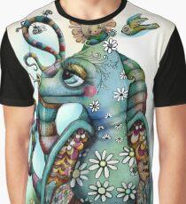 Misty the Friendly Rainbow Dragon Graphic T-Shirt