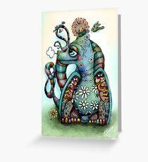 Misty the Friendly Rainbow Dragon Greeting Card