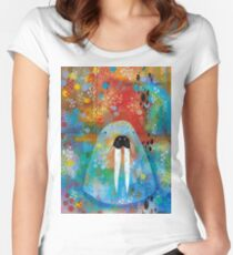 I Am the Walrus Women's Fitted Scoop T-Shirt