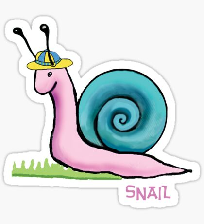 snail white outline Sticker