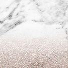 Rose Gold Glitter on Marble by 4ogo Design