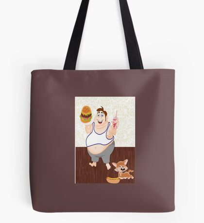 Can't say No to a Burger ! A Sad state :)   ( 1063 Views) Tote Bag