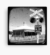 Stop on Red - Through The Viewfinder (TTV) Canvas Print