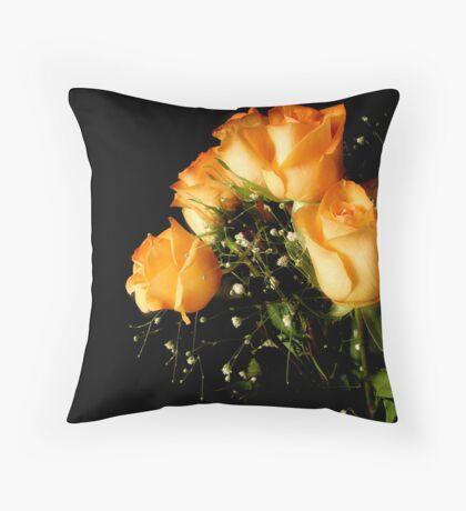 Peach Top Throw Pillow