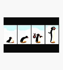 my friend pingu desktop toy Photographic Print