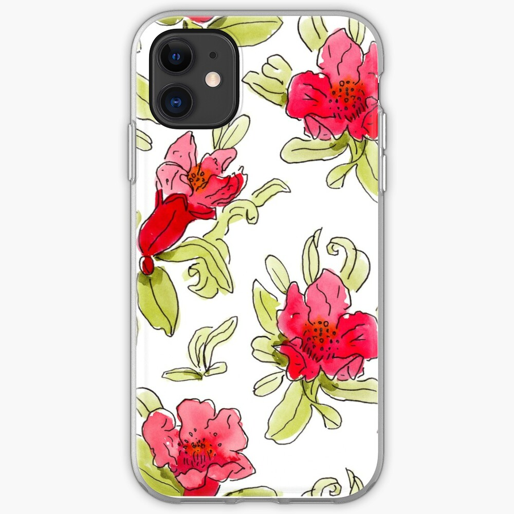 pomegranate flowers iPhone Case & Cover