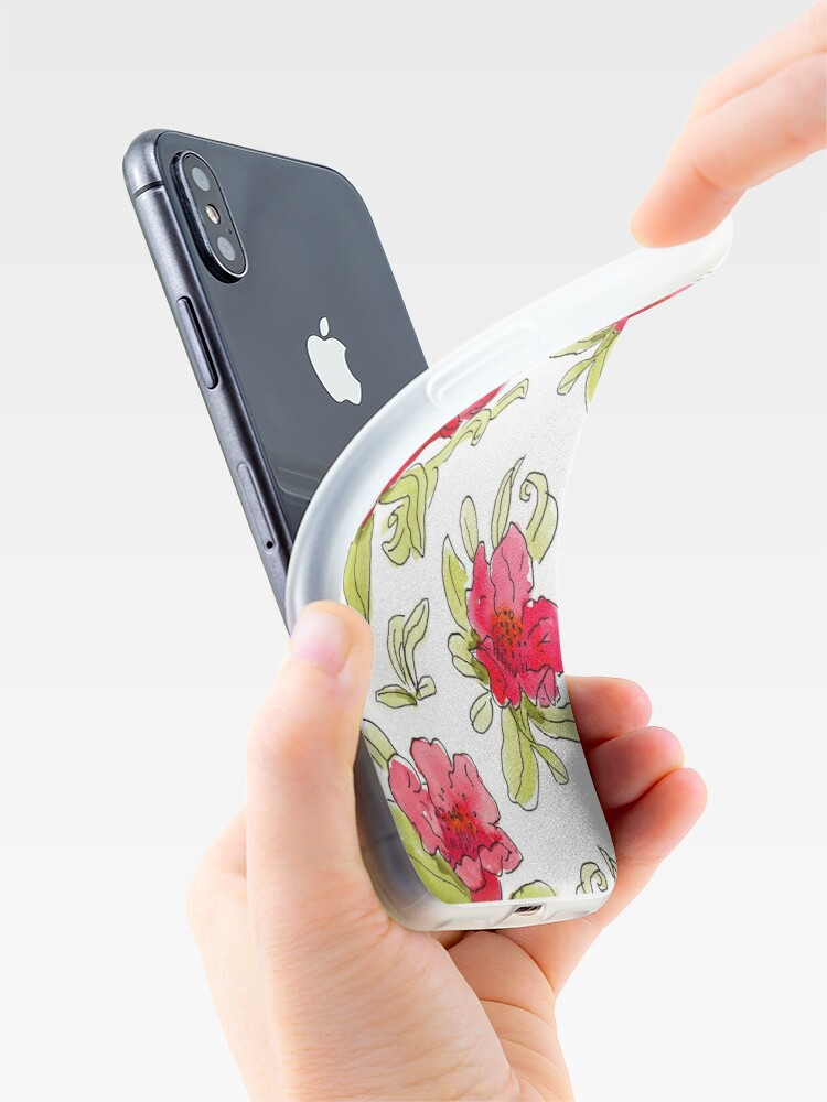 Alternate view of pomegranate flowers iPhone Case & Cover