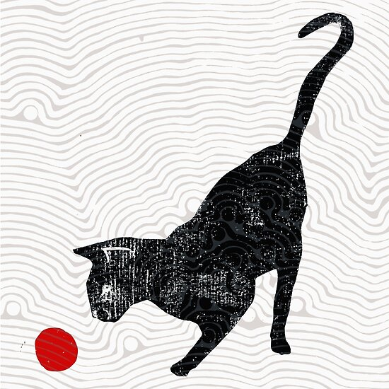 playing cat by Randi Antonsen