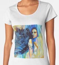 Timeless Wonder Through The Air, 100-100cm, 2017, oil on canvas Women's Premium T-Shirt