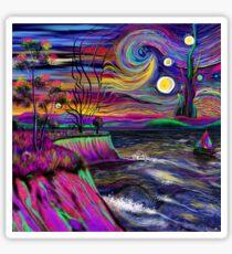 Psychedelic landscape Sticker