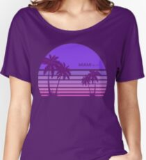 Synthwave - Miami FM-77 Women's Relaxed Fit T-Shirt